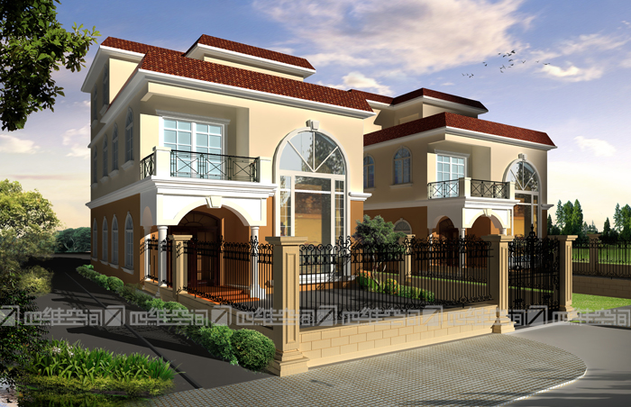 别墅外观设计表现图